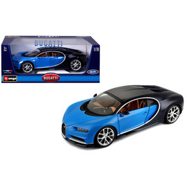 BURAGO BUR 11040BBS  BUGATTI CHIRON 1/18 BLUE-BLK