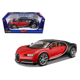 BURAGO BUR 11040RED/BLACK BUGATTI CHIRON RED/BLACK 1/18 DIECAST