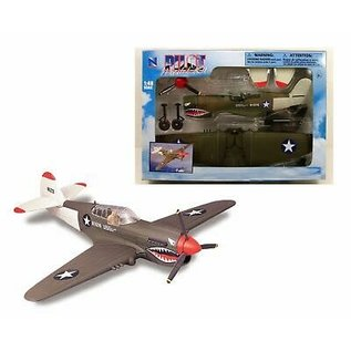 NRY 20217P40 WW2 EZ BUILDKIT P-40 1/48 BOLT TOGETHER