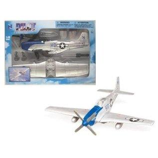 NRY 20217MUS WW2 EZ BUILDKIT P-51 MUSTANG 1/48 BOLT TOGETHER