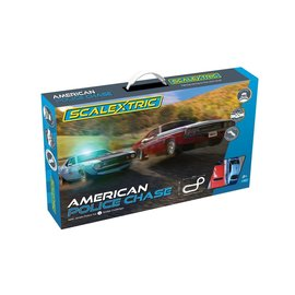 SCALEXTRIC SCA C1405 AMERICAN POLICE CHASE SLOT CAR SET
