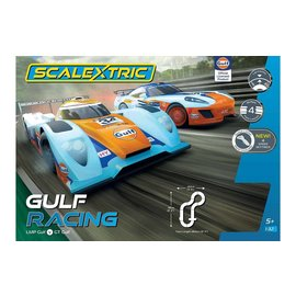 SCALEXTRIC SCA C1384 GULF RACING SLOT CAR SET