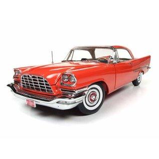 AUTOWORLD AMM 1110 1957 CHRYSLER 300C ORANGE 1/18 DIECAST