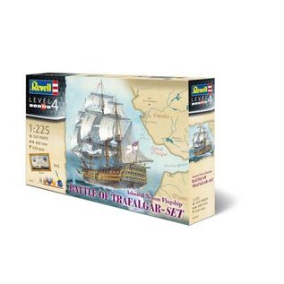 REVELL GERMANY REV 05767 1/225 BATTLE OF TRAFALGAR COMPLETE MODEL SET