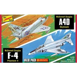 LINDBERG HL433/12 /72 F-4G Phantom/A4D Skyhawk (2 Pack)