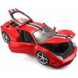 BURAGO BUR 16002 FERRARI 458 SPECIALE RED 1/18 DIECAST