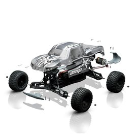 ECX 03034 AMP MT 1:10 2wd Monster Truck:BTD Kit