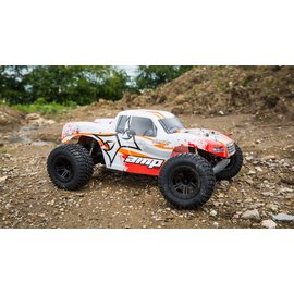 ECX 03028T1 AMP MT 1:10 2WD Monster Truck:White/Orange RTR