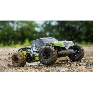 ECX 03028T2 AMP MT 1:10 2WD Monster Truck: Black/Green RTR
