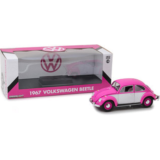 GREENLIGHT COLLECTABLES GLC 13512 Volkswagen Beetle 1967 PINK/WHITE 1/18 DIECAST