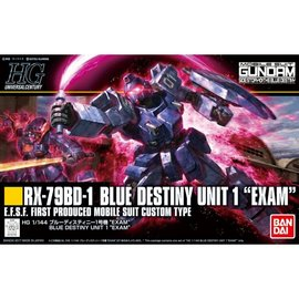 BANDAI BAN 5058268 RX-79BD-1 BLUE DESTINY UNIT 1 EXAM
