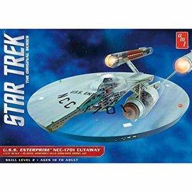 AMT AMT 891 STAR TREK USS ENTERPRISE CUTWAY 1/537 MODEL KIT
