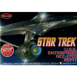 POLAR LIGHTS POL 820 STAR TREK ENTERPRISE NCC1701 1/1000 SNAP KIT