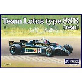 EBBRO EBB 20010 TEAM LOTUS TYPE 88B 1981 1/20 MODEL KIT