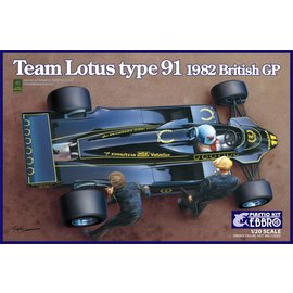 EBBRO EBB 20012 TEAM LOTUS TYPE 91 BRITISH GP 1/20 MODEL KIT