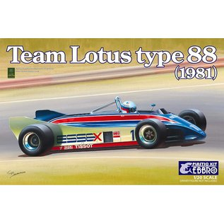 EBBRO EBB 20011 TEAM LOTUS 88 1981 1/20 MODEL KIT