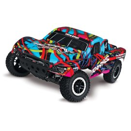 TRAXXAS TRA 58034-1-HWN TRAXXAS HAWAIIAN SLASH 2WD XL5 BRUSHED READY TO RUN