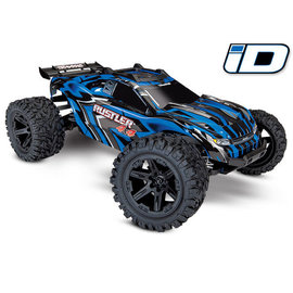 TRAXXAS TRA 67064-1-BLUE Rustler 4X4: 1/10-scale 4WD Stadium Truck Brushed ready to run