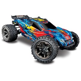 TRAXXAS TRA 67076-4-RED RUSTLER 4X4 VXL READY TO RUN