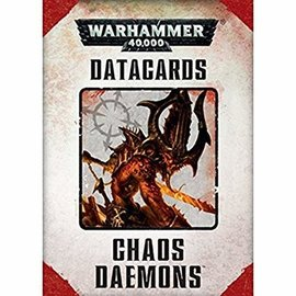 GAMES WORKSHOP WAR 60220115002 CHAOS DAEMON DATACARD 40K