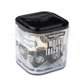 GAMES WORKSHOP WAR 9922019906406 WOUND TRACKERS BLACK AND CREAM 40K