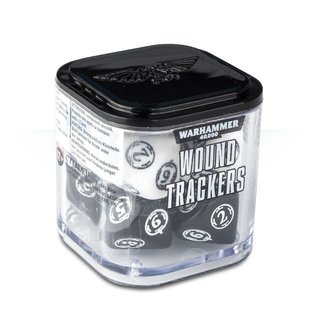 GAMES WORKSHOP WAR 9922019906406 WOUND TRACKERS BLACK AND WHITE 40K