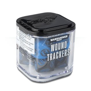 GAMES WORKSHOP WAR 9922019906406 WOUND TRACKERS BLACK AND BLUE 40K