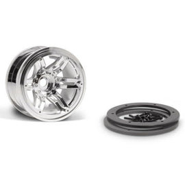 AXIAL RACING AXI 8092 CHROME 2.2 BEADLOCK CRAWLER WHEEL