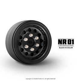 GMA 70224 1.9 NR01 BEADLOCK WHEELS PLASTIC (BLACK) (2)