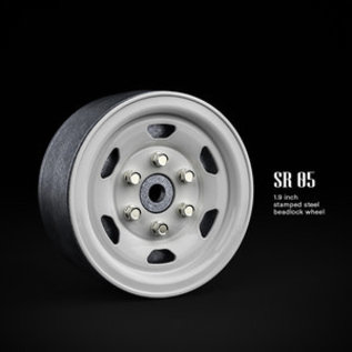 GMA 70506 1.9 SR05 Beadlock Wheels (Gloss White)  STEELIES (2)