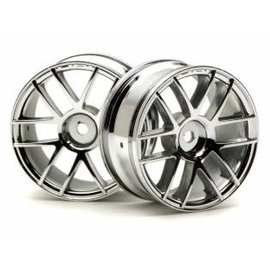 HPI RACING HPI 3797 SPLIT 6 26MM CHROME WHEELS 1/10 PAIR