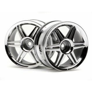 HPI RACING HPI 3802 CHROME 26MM (3MM OFFSET) CORSA WHEEL 1/10 PAIR