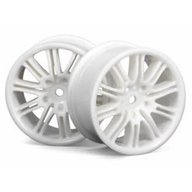 HPI RACING HPI 3770 10 SPOKE WHEELS 26MM WHITE