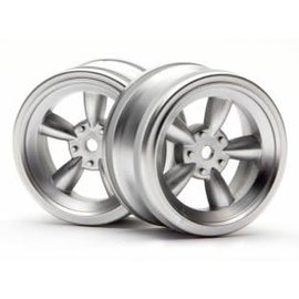 HPI RACING HPI 3815 VINTAGE 26MM  MATT CHROME WHEEL PAIR