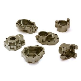 INTEGY INT C28153GUN BILLET ALLOY REAR PORTAL HOUSING SET TRX4 GUNMETAL