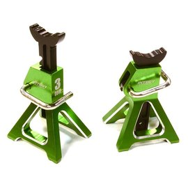 INTEGY INT C26410GRN  JACK STANDS 1/10 1/8 GREEN PAIR