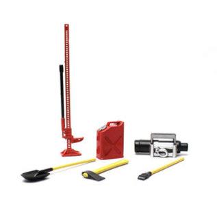 Racers Edge RCE 3400R 1/10 Scaler Accessory Set (8pcs) - Red