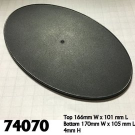 REAPER REA 74070 170MM X 105MM GAMING BASES OVAL 4 PACK