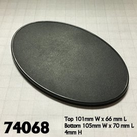 REAPER REA 74068 105MM X 70MM OVAL GAMING BASE 4 PACK