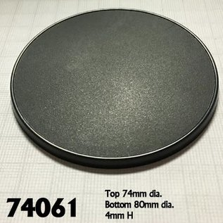 REAPER REA 74061 80MM ROUND GAMING BASES 4 PACK