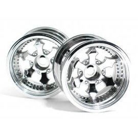 HPI RACING HPI 3082 SPIKE TRUCK WHEEL CHROME PAIR 2.2 TRUCK 12MM HEX