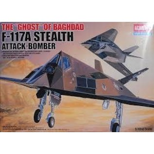Academy/Model Rectifier Corp. ACA 12475 1/72 USAF F-117A Stealth PLASTIC MODEL KIT