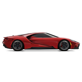 TRAXXAS TRA 83056-4-RED Liquid Red Ford GT 1/10 Scale AWD Supercar RTR