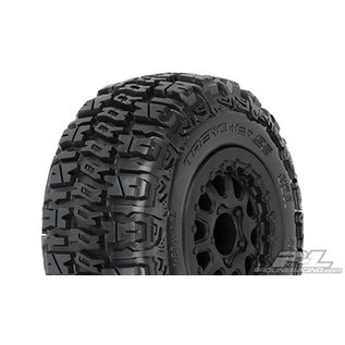 """Proline Racing PRO 115913 Trencher SC 2.2""""/3.0"""" M2 (Medium) Tires Mounted for Slash 2wd Rear & Slash 4x4 Front or Rear, Mounted on Renegade Black Wheels"""