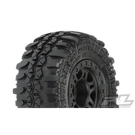 "Proline Racing PRO 10103-22 Interco TSL SX Super Swamper SC 2.2""/3.0"" Tires Mounted for Slash 2wd Rear & Slash 4x4 Front or Rear, Mounted on Split Six Black Wheels"