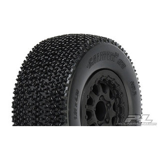 "Proline Racing PRO 117616 Caliber 2.0 SC 2.2""/3.0"" M3 (Soft) Tires Mounted for Slash 2wd Rear & Slash 4x4 Front or Rear, Mounted on Renegade Black Wheels"