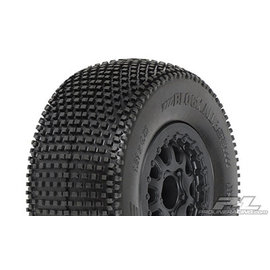 "Proline Racing PRO 118316  Blockade SC 2.2""/3.0"" M3 (Soft) Tires Mounted for Slash and Blitz Rear, Slash 4x4 Front or Rear & Blitz Front (with modification)"