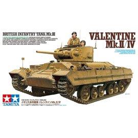 TAMIYA TAM 35352 1/35 Brit Infantry Tank Mk.III Valentine Mk.II/IV