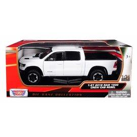 MOTOR MAX MOT 79358WH 2019 Dodge Ram 1500 CREW CAB REBEL 1/24 DIECAST WHITE