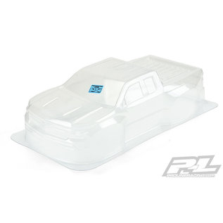 Proline Racing PRO 351200 2019 Chevy Silverado Z71 Trail Boss True Scale Clear Body for Slash 2wd, Slash 4x4 & PRO-Fusion SC 4x4 (with extended body mounts)